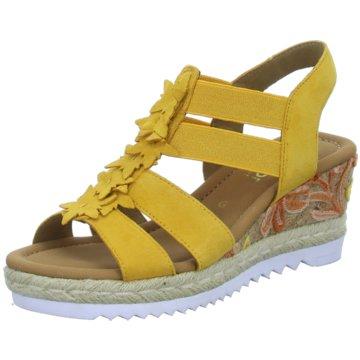 Gabor Espadrilles Sandalen gelb