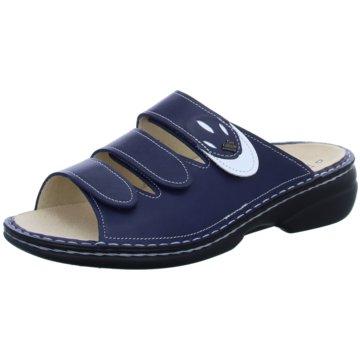 FinnComfort Komfort Pantolette blau