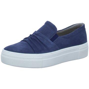 Legero Sportlicher Slipper blau