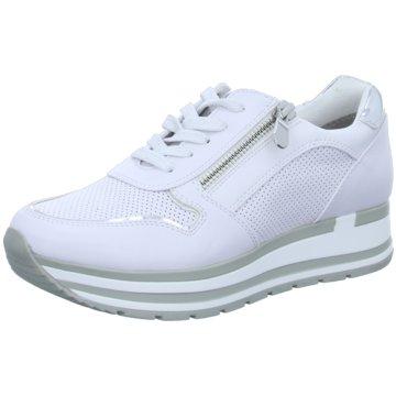 Marco Tozzi Plateau SneakerDa.-Schnürer weiß