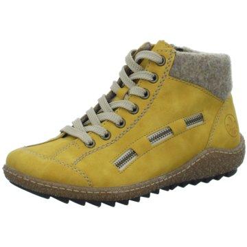 Rieker Komfort StiefeletteStiefel gelb