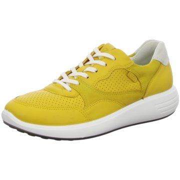 Ecco Komfort Schnürschuh gelb