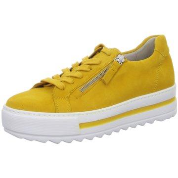 Gabor comfort Plateau Sneaker gelb