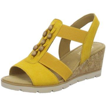 Gabor Komfort Sandale gelb