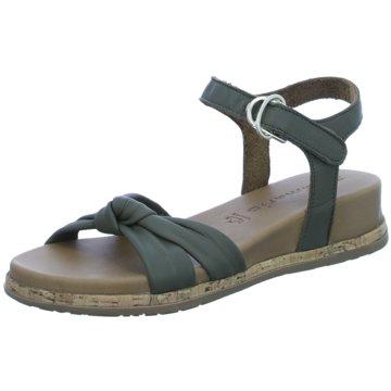 Tamaris Komfort Sandale grün