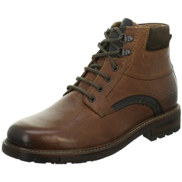 Details zu Mustang Herren Stiefel Schnürstiefel warm sportlich Boots braun