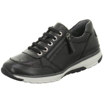 Gabor comfort Sportlicher SchnürschuhSneaker schwarz