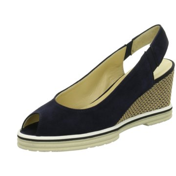 Brunate Slingpumps blau