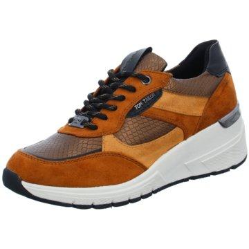Tom Tailor Sneaker Wedges braun