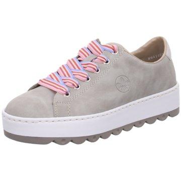 Rieker Plateau Sneaker grau