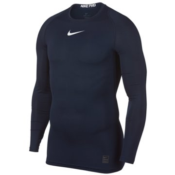 Nike SweaterPro Compression LS Top blau