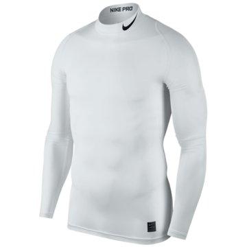 Nike SweaterPro Compression Mock LS Top weiß