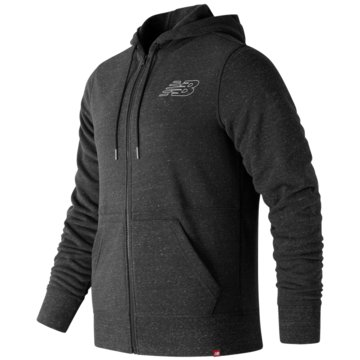 New Balance SweatjackenHeathered Full Zip Hoodie grau