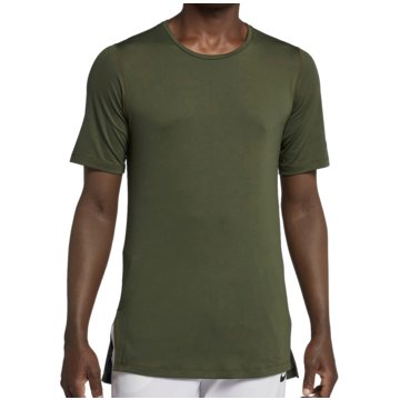 Nike HerrenFitted Utility SS Top oliv