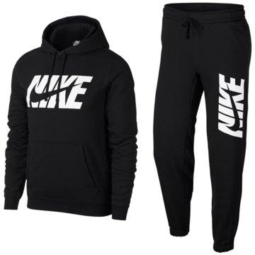 Nike TrainingsanzügeSportswear Graphic Fleece Track Suit schwarz
