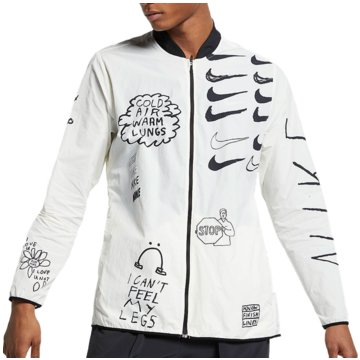 Nike LaufjackenNathan Bell Run Print Jacket weiß