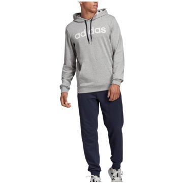 adidas TrainingsanzügeTracksuit Cotton Hooded grau