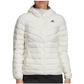 adidas FunktionsjackenVarilite 3-Stripes Hooded Down Jacket Women beige