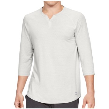 Under Armour UntershirtsAthlete Recovery Sleepwear 3/4 Sleeve Henley Shirt beige