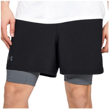 Under Armour kurze SporthosenQualifier 2-in-1 Short schwarz