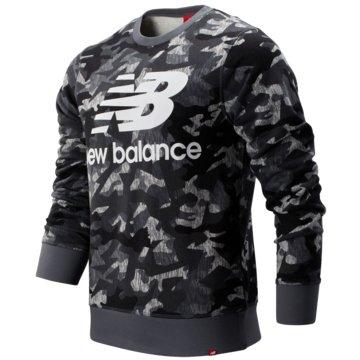 New Balance SweatshirtsPrinted Essentials Stacked Logo Crew grau