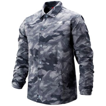New Balance ÜbergangsjackenPrinted Classic Coaches Stacked Jacket grau