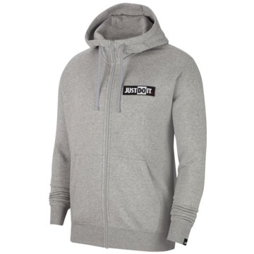 Nike SweatjackenJDI Fleece Hoodie FZ grau