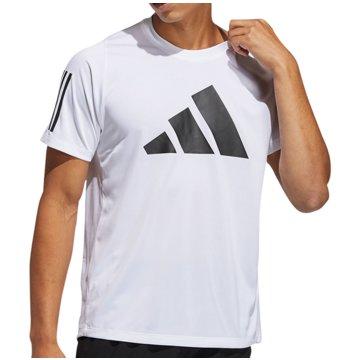adidas T-ShirtsFreeLift 3 Bar Tee weiß