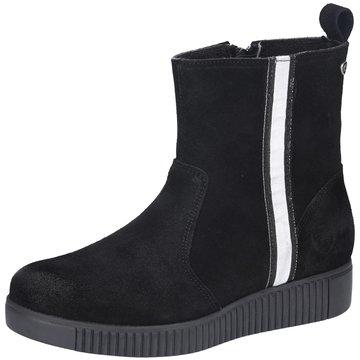 Black Komfort Stiefelette schwarz