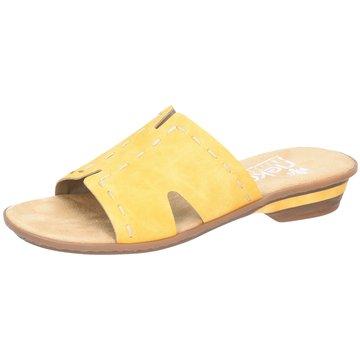 Rieker Klassische Pantolette gelb