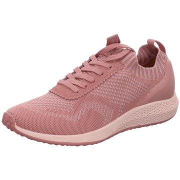 Tamaris Sportlicher SchnürschuhSneaker rosa