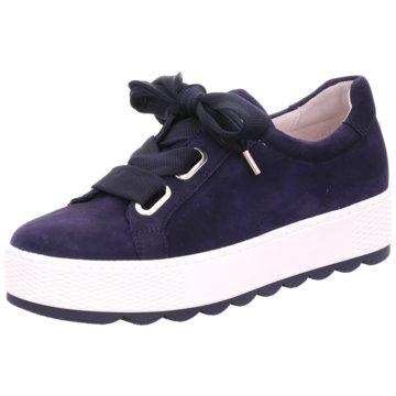 Gabor comfort Plateau SchnürschuheSneaker blau