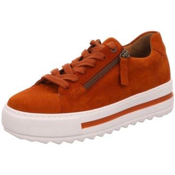 Gabor Plateau SchnürschuheSneaker orange