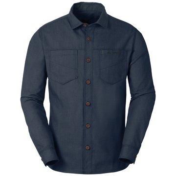 VAUDE Langarmhemden blau