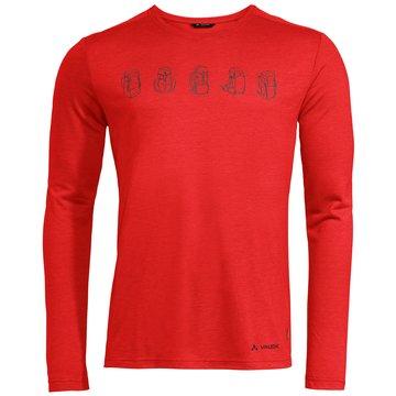 VAUDE LangarmshirtMen's Rosemoor LS T-Shirt II rot
