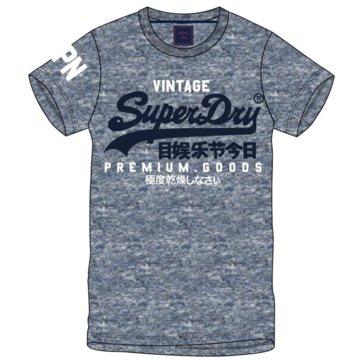 Superdry T-Shirts print blau