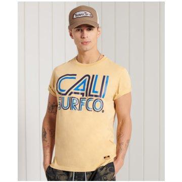 Superdry T-Shirts print gelb