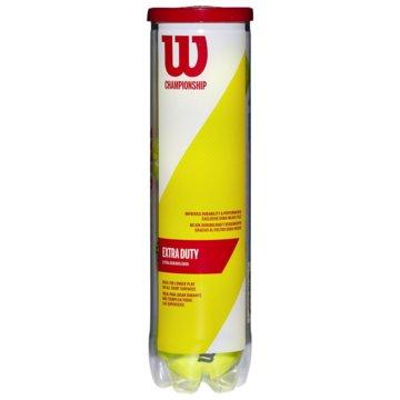 Wilson TennisbälleCHAMPIONSHIP EXTRA DUTY 4TBALL - WRT110000 gelb