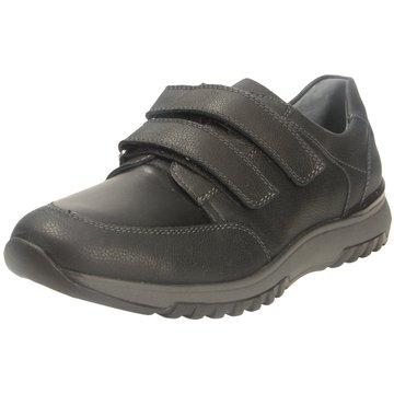 Waldläufer Komfort Slipper schwarz