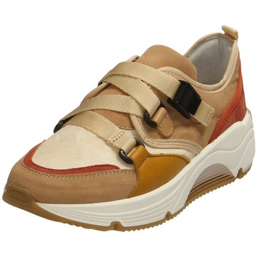 Alpe Woman Shoes Plateau Sneaker beige