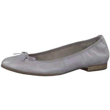Caprice Klassischer Ballerina grau