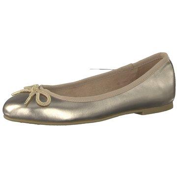 Tamaris Klassischer Ballerina gold