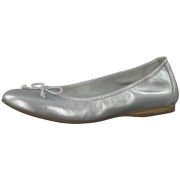 Tamaris Damen 22114 Geschlossene Ballerinas, Silber (Pewter