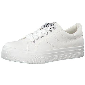 Tamaris Plateau SneakerDa.-Schnürer weiß