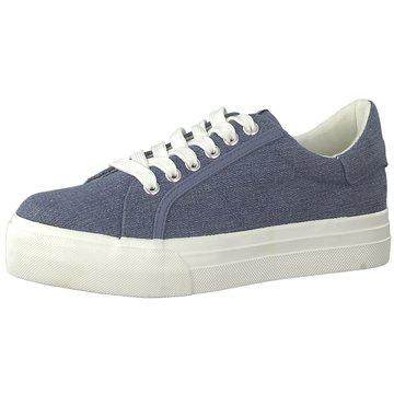 Tamaris Plateau Sneaker blau