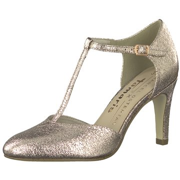 Tamaris T-Steg Pumps gold