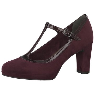 Tamaris T-Steg Pumps rot