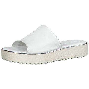 Tamaris Plateau Pantolette weiß