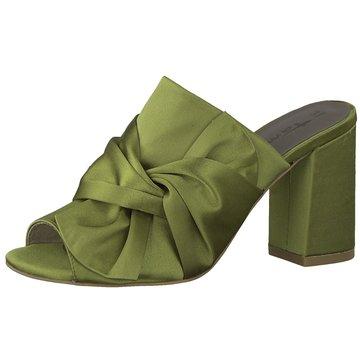 Tamaris Plateau Pantolette grün