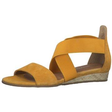Tamaris Komfort Sandale gelb
